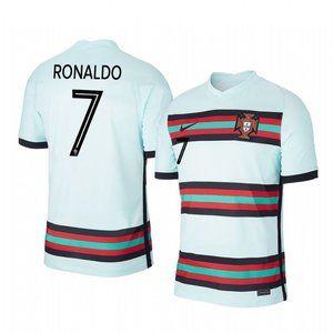 Portugal Cristiano Ronaldo White Jersey